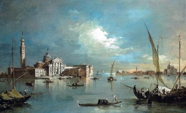 Francesco Guardi - San Giogio Maggiore and the Giudecca, 1780