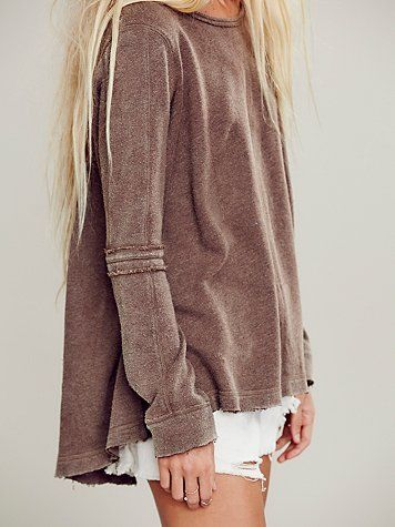 Half way between brown & pink long sleeved top
