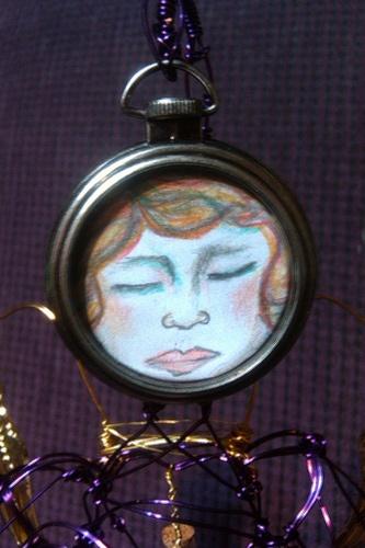 Art Doll Face...for Tea Bag Challenge.  http://collectingyourself.wordpress.com/2011/09/02/a-cup-full-of-gratitude-tea-bag-momma/