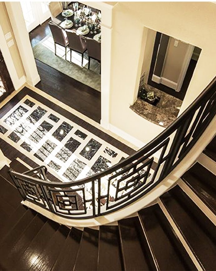 Mimic The Design In The Flooring Of Your Entrance In The Railing Of Your  Staircase.