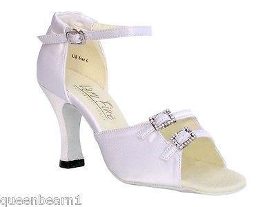 Dancewear: 1620 White Satin Ballroom Salsa Mambo Latin Dance Shoes Heel 3 Size 7 -> BUY IT NOW ONLY: $48.98 on eBay!