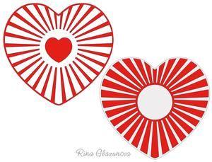 Sunburst Hearts on Craftsuprint - View Now!