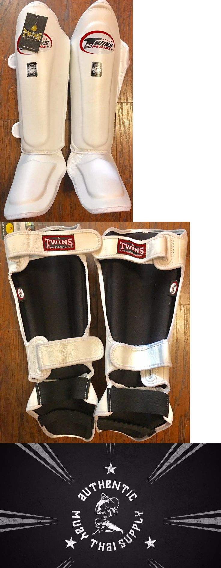 Shin Guards 179782: Twins Special Kick Boxing Mma Muay Thai Sgl10 Large White Leather Shin Guards -> BUY IT NOW ONLY: $69.99 on eBay!
