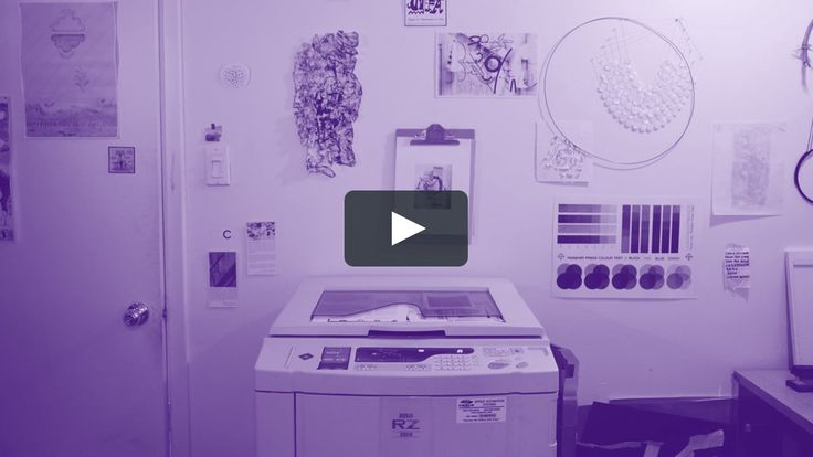 A visual Introduction to the RZ220 risograph machine and printing process.   Risograph printers look like photocopiers and have some of the same characteristics, but work in layers like a silkscreen and are trending for zine makers and low cost art prints.