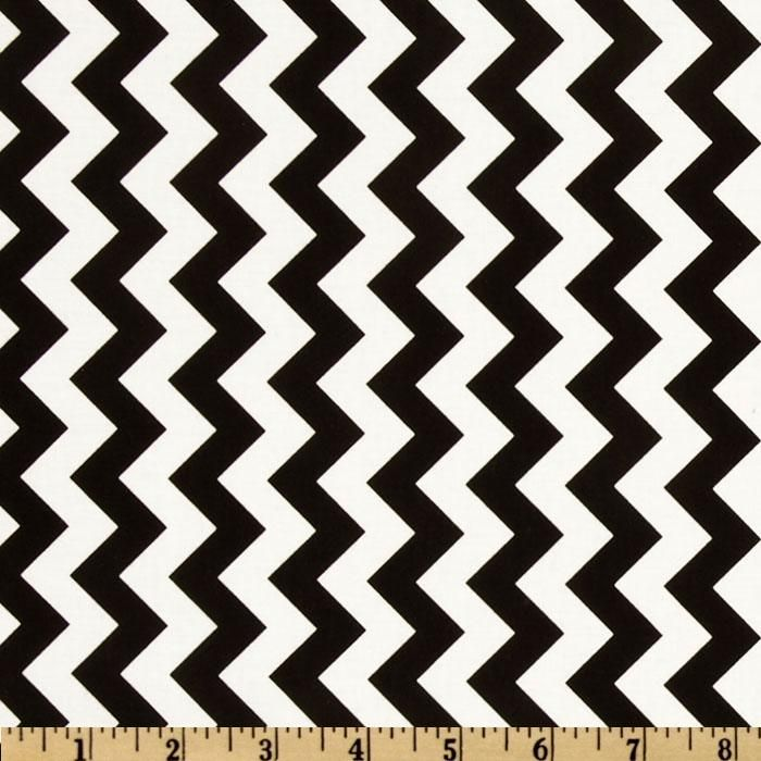 Riley Blake Chevron Small Black from @fabricdotcom Designed by RBD Designers for Riley Blake Designs, this cotton print fabric is perfect for crafts, quilting, apparel and home décor accents. The chevron stripe is vertical to the selvedge. Colors include black and white.