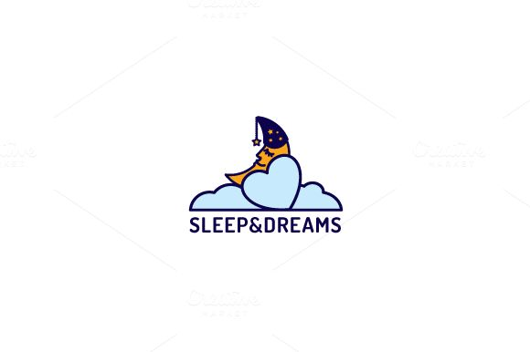 Sleep&Dreams_logo by NiklancerShop on @creativemarket