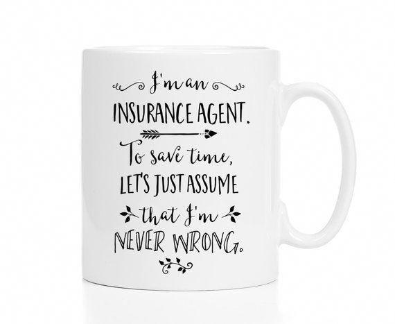 Insurance Agent Mug Gift For Insurance Agent Insurance Agent
