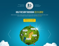 Golf tournament by Martin Rus, via Behance