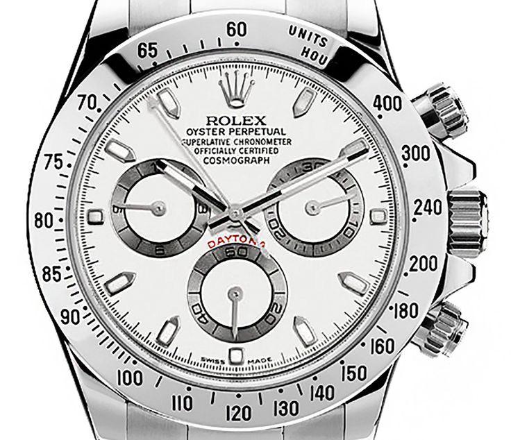 Rolex 116520 Cosmograph Daytona Stainless Steel White Dial Men's 40mm Chronograph