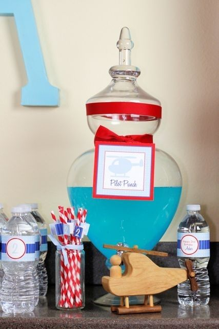 Boy's Helicopter Birthday Party Food Ideas