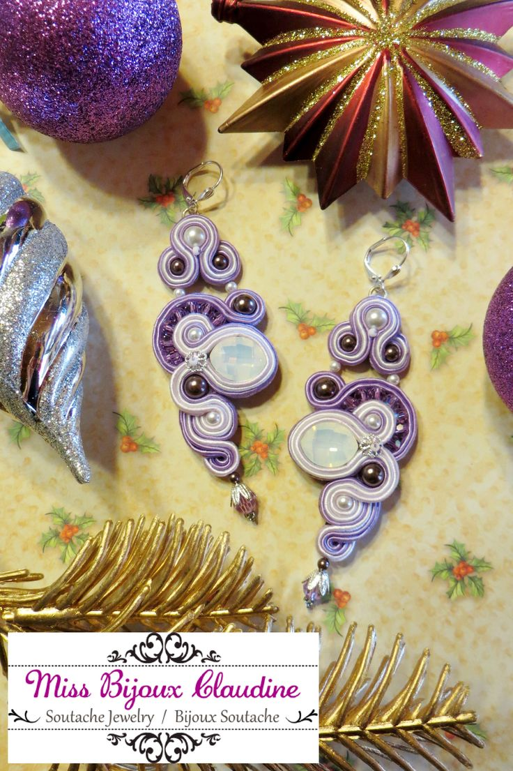 Soutache Earrings - by Miss Bijoux Claudine - 2015