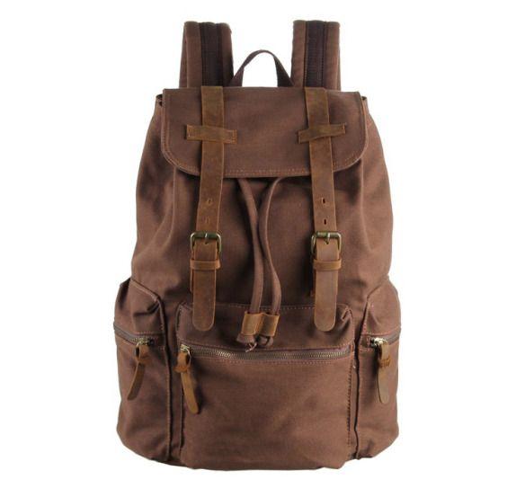 mochila vintage para hombre de lona