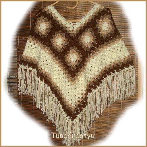 #bohem #hippi #grannysquarestyle #poncho http://facebook.com/tunderbatyu