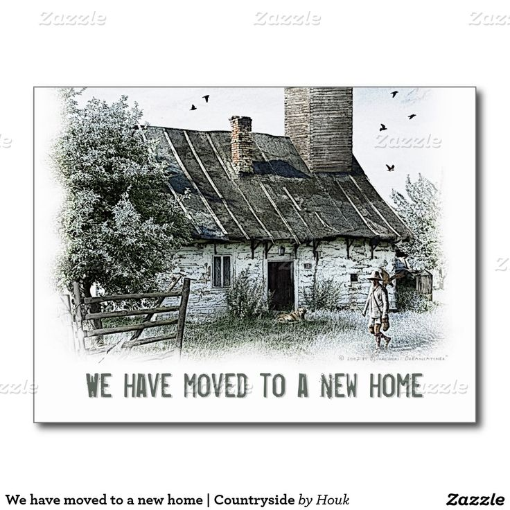 We have moved to a new home | Countryside Postcard