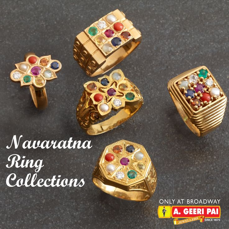 Navaratna Ring Models For Ladies
