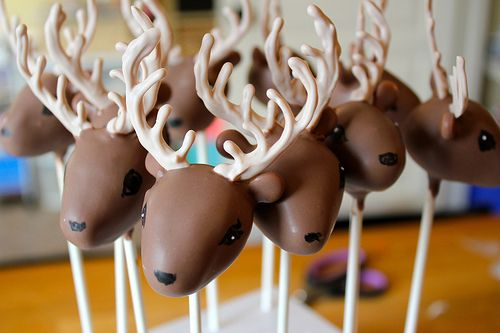 Deer Cake Pops by MichelePetersen, via Flickr Petite Delights by Michele on Facebook