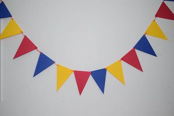Royal Yellow Blue Red Flag BannerPrince Theme Paper