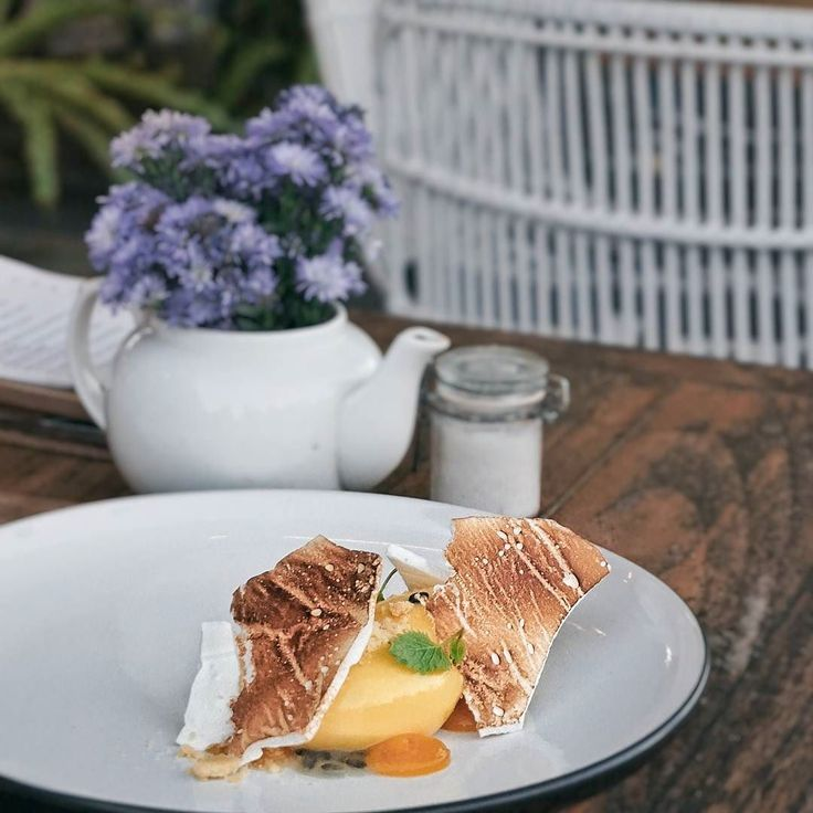 #Bali. This is a new dessert from @WatercressBali Passionfruit Tart and this is also our new favorite menu here. Made from Passionfruit Curd Fresh Passionfruit Italian Meringue Sweet Pastry & Lemon Balm. Dare to try?