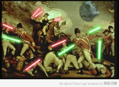 Lightsabers make history so much more interesting!