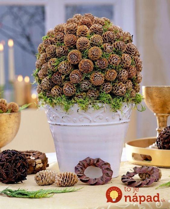 Keď to uvidíte, začnete ich zbierať aj vy: 21 úžasných nápadov na jesenné dekorácie, ktoré vytvoríte z popadaných šišiek!