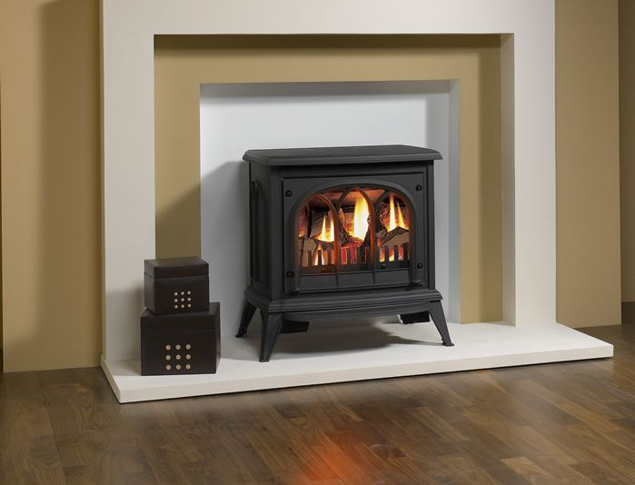 Gas electric fireplace
