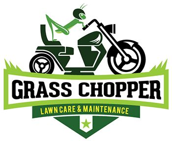 Test monki grass chopper grass hopper motorcycle for Garden maintenance logo