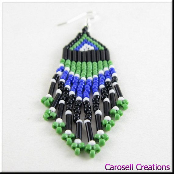 179 best drop seed bead earrings images on pinterest bead native american style beadwork dangle seed bead by carosell mozeypictures Choice Image