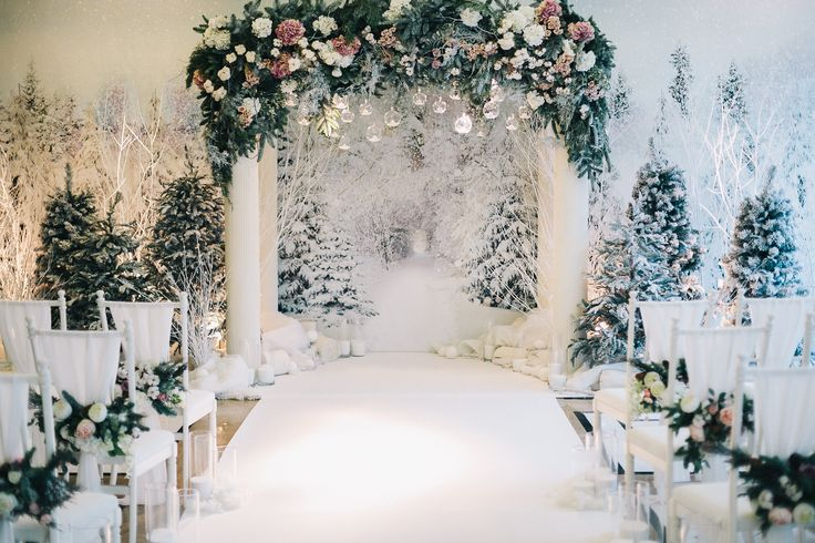 wedding ceremony, wedding arch, winter wedding, decor fairy forest, fairy wood, wedding oath, свадьба, зимняя свадьба, зимний лес, оформление свадьбы, оформление зимней свадьбы, церемония, свадебная арка, снег, лес
