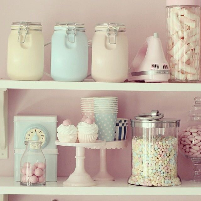 Pastel Kitchen Decor, Pink Kitchen Furniture And