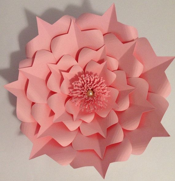This is for 1 Fully Assembled Medium Paper Flower. Flowers are cut from a heavy quality card stock paper. This 1- Medium 10-12 Fully Bloomed