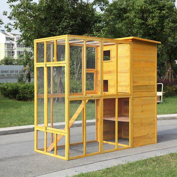 Jailyn Wooden Outdoor Playpen With Portable Outdoor Cat House Cat House Diy Outside Cat House