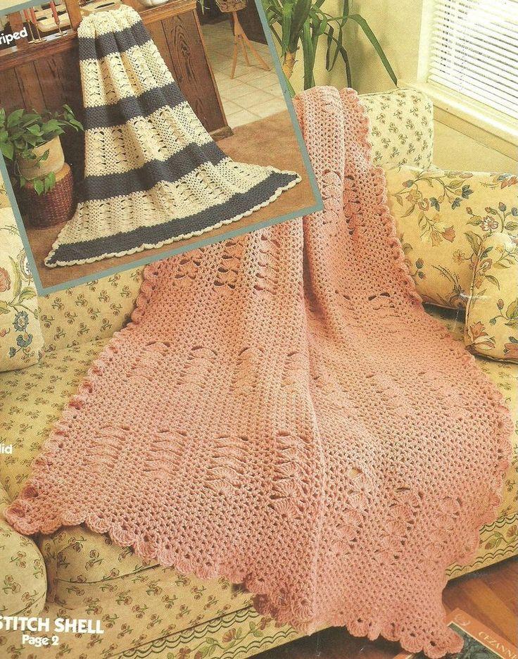 Perfecto Los Patrones De Crochet Frontera Modelo - Manta de Tejer ...