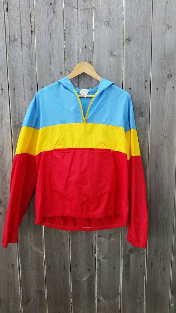 Check out this item in my Etsy shop https://www.etsy.com/listing/518608064/vintage-1980s-tri-color-windbreaker