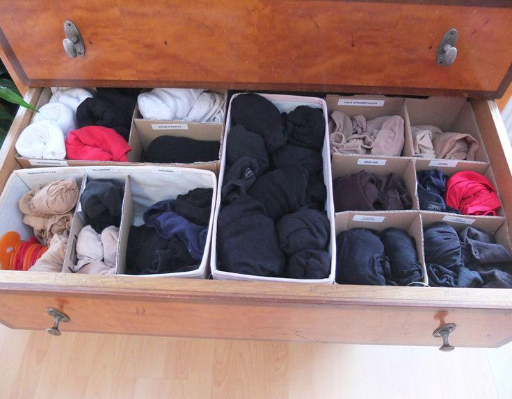 #diy Schubladentrenner für Socken & Strümpfe