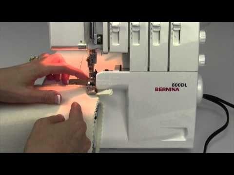 Bernina 800DL Serger 22 Turning Corners - YouTube