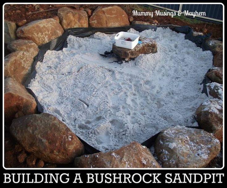 sandbox of stones