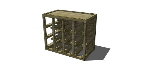 Free DIY Furniture Plans to Build a Stackable Cube Wine Shelf Storage   The Design Confidential