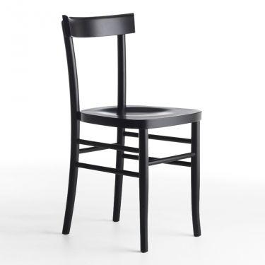Simple pedro sconto sedia in legno massello di with sedie nere for Sedie moderne nere