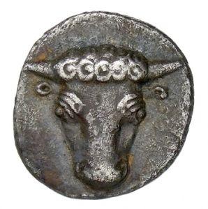 Emidracma (mezza dracma) - argento - Focide (ca 457-446 a.C.) - testa di toro - Münzkabinett der Staatlichen Museen Berlin