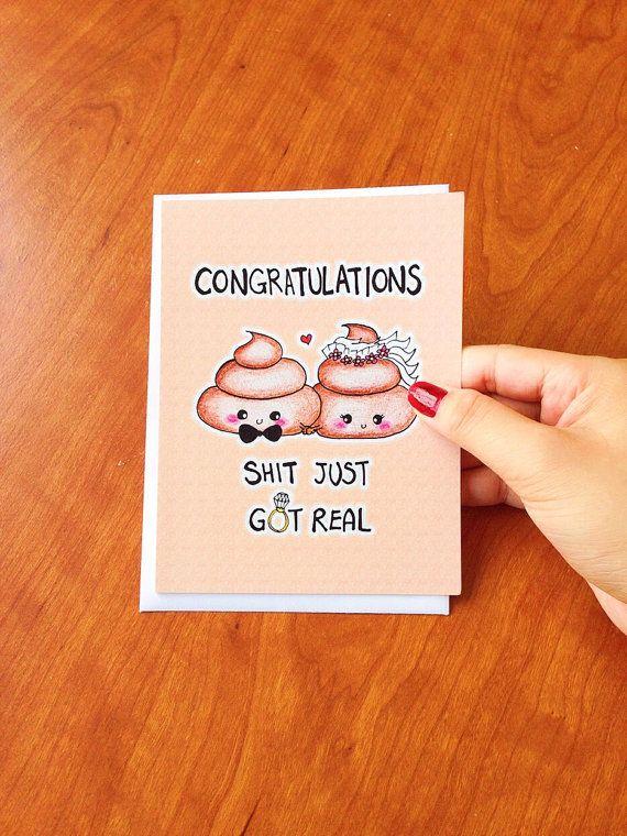 Funny Wedding card congratulations, Wedding Congratulations card, funny wedding cards, mature wedding card funny, wedding congrats card by LoveNCreativity