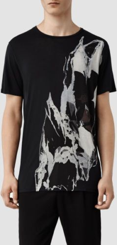 NEW-034-ALLSAINTS-034-MEN-039-S-034-RIP-IT-UP-SS-CREW-034-BLACK-TSHIRT-SIZE-034-2XL-034-NEW-WITH
