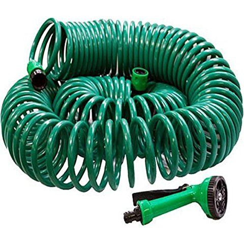 Babz 30 METRE COIL 30M 100FT RETRACTABLE GARDEN HOSE REEL PIPE WITH SPRAY GUN NOZZLE