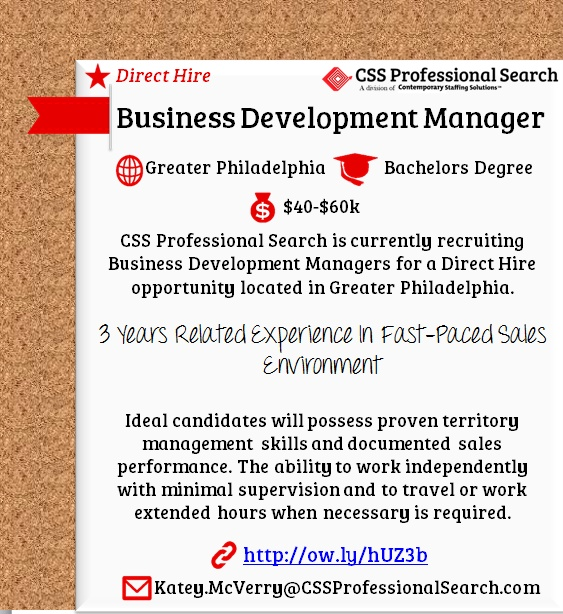 CSS Professional Search is #hiring Managers of Regulatory - channel sales resume