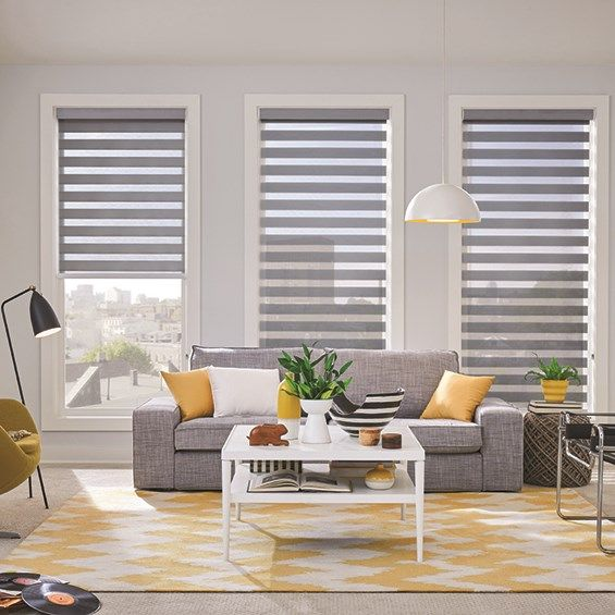 Give your view soft style with dual sheer shades.