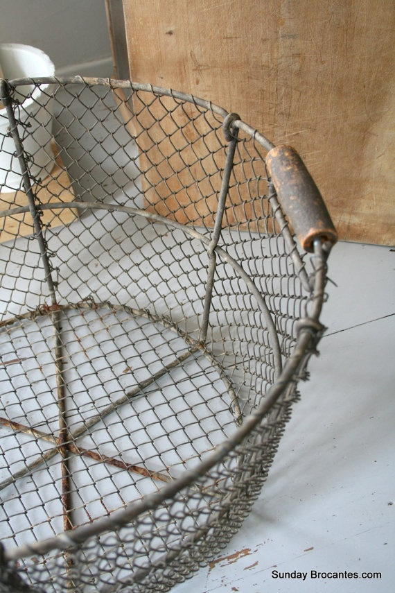 Vintage French Wire Basket180