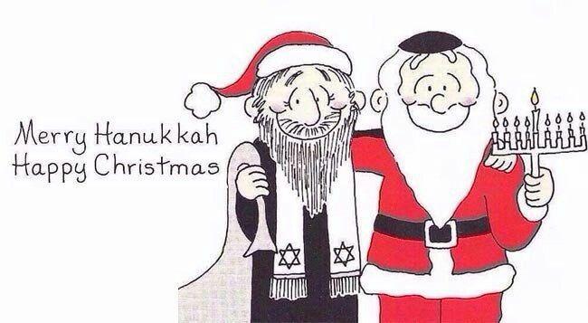 Feliz navidad, Feliz januka happy Christmas happy januka Y todos conviviendo en paz #Humor #chiste #meme #masideas @masideas @diariojudio #instamexico #instamx #instamood #chistes #diversion @judiosenmexico @diariojudio @diariojudiomexico #judios #Christmas #judías #judía #santa #santaclaus #paz