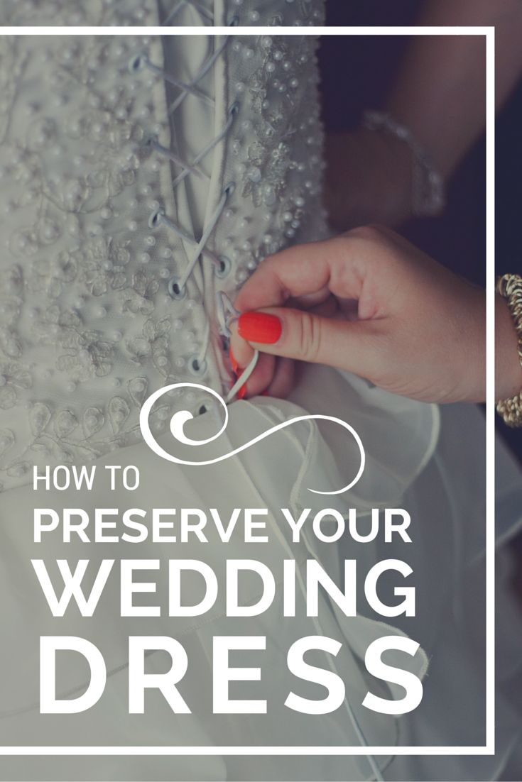Learn how to care for, clean and ultimately preserve your wedding dress.  Already married with your wedding dress in a closet? It's not to late to clean and preserve it properly.