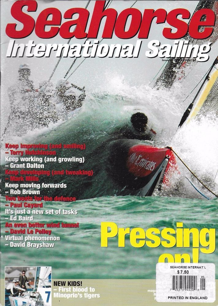 Seahorse International Sailing magazine Minoprio tigers Better wind tunnel