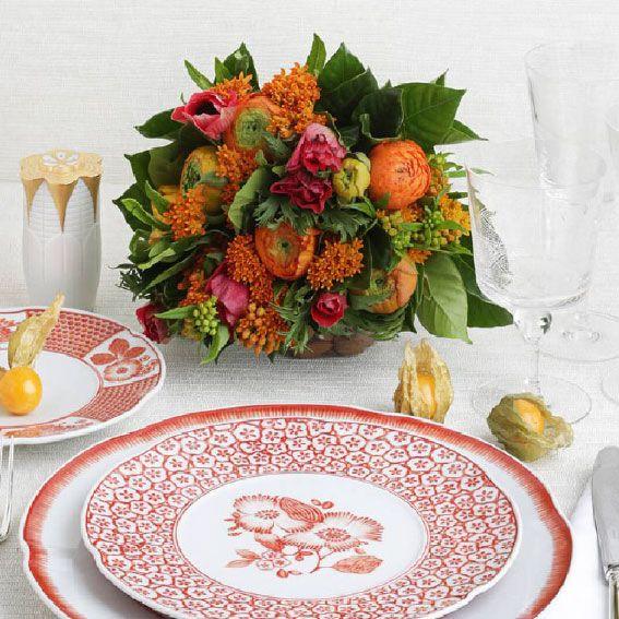 Vajilla Coralina de Vista Alegre by Oscar De La Renta en iskia #iskia #decoration #table #vajilla #tableart #vistaalegre #oscardelarenta #decoracion #mesa #wedding #bodas