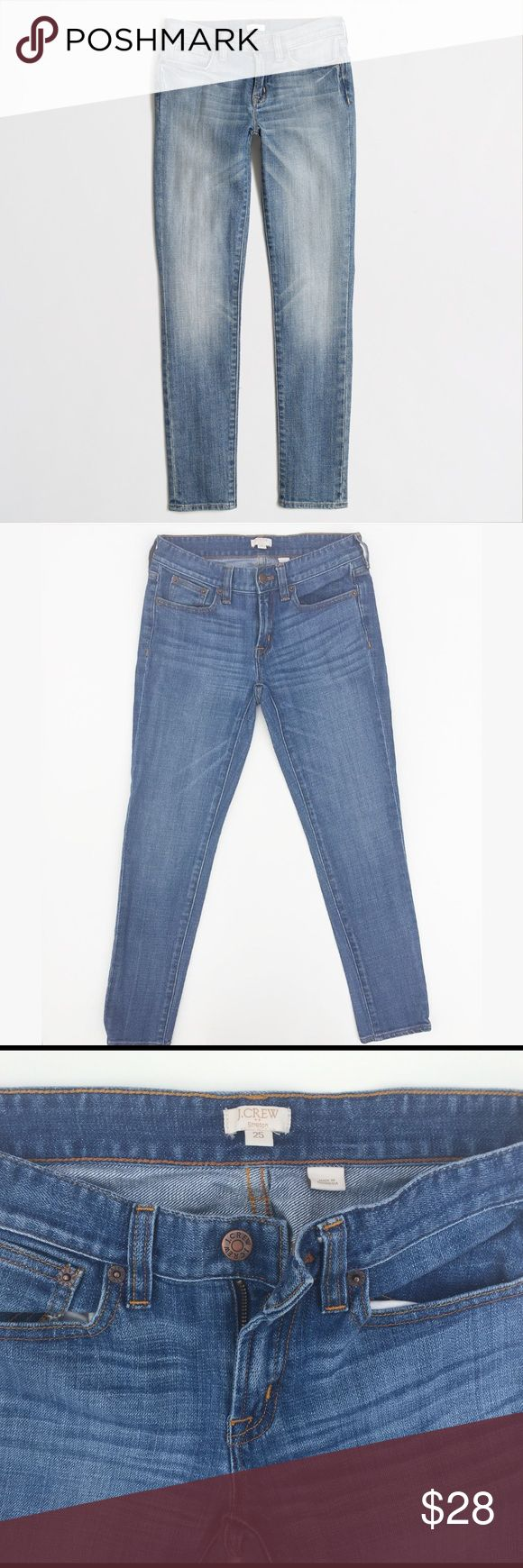 "J Crew Skinny Stretch Ankle Jean Size 25 J Crew factory skinny ankle jean.  Cotton with a hint of stretch. Sits lower on hip, with a superskinny, straight leg. 28"" inseam. Traditional 5-pocket styling. J. Crew Jeans Ankle & Cropped"